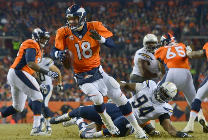 peyton manning contra chargers