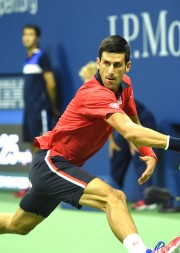 September 2, 2015 - Novak Djokovic in action at the Men's singles round 2 match during the 2015 US Open at the USTA Billie Jean King National Tennis Center in Flushing, NY. (USTA/Pete Staples)
